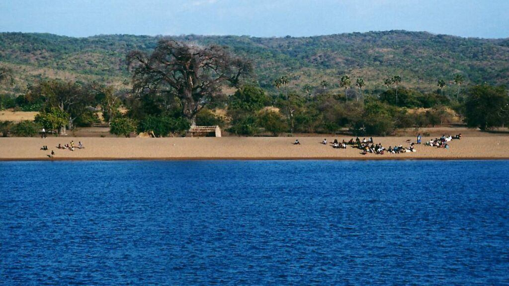 Lake of Malawi is the third largest freshwater lake in Africa. It forms much of the boundary between Malawi and Mozambique, and between Malawi and Tanzania